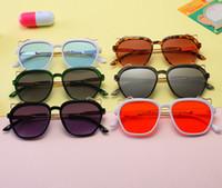 Enfants lunettes de soleil en métal bande dessinée 2019 mode nouveaux garçons et filles Uv 400 lunettes de soleil enfants lunettes de plage enfants adumbral sun Lunettes F3581