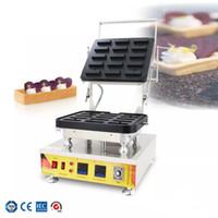 En Çok Satan Dijital Sıcaklık Kontrolü Tartlet Kabuk Makinesi 15 Delik Dikdörtgen Yarı Bitmiş Yumurta Tart Kabuk Ekipmanları Waffle Koni Makinesi