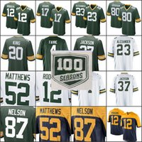 caa03c8fdc4 Wholesale aaron rodgers jerseys for sale - 100th season patch Packers Jersey  Jimmy Graham Aaron Rodgers