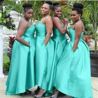 2021 Einfache Brautjungfernkleider südafrikanisches Nigeria Sommer Country Garden Formal Wedding Party Guest Mädchen des Ehrenkleides