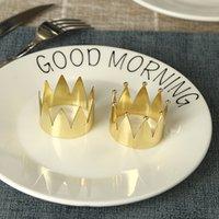 12pcs de la corona de la servilleta del metal del anillo de Europa occidental de la hebilla del hotel Caja artesanales de metal de alta gama Anillo de servilleta