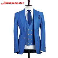Classic Man Suits Tailor Suit Pesked Lapel Groom Tuxedos Edg...
