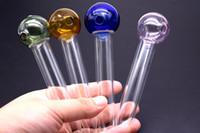 Neue ankunft Glas Hand Gerade Rohre Bunte Schüsseln Glasölbrenner rohr Rauchen Clear Pipes Pyrex Ölbrenner Rohr