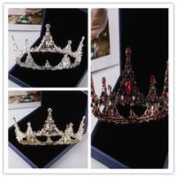 Сверкающие бронза золото серебро кристаллы свадебные диадемы короны свадебные заставки свадебные аксессуары свадебные диадемы / короны