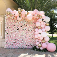 ARTIFICIALE ROSA 40x60 cm Colori personalizzati Silk Rose Flower Wall Decorazione di cerimonia nuziale Backdrop Muro di fiori artificiali Romantico EEA1587
