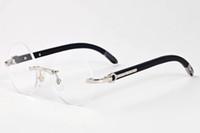 chifre de búfalo preto óculos 2020 moda esportes dos homens óculos de sol para homens round frame lentes de círculo de madeira óculos sem aro mulheres óculos de sol