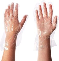 Одноразовые PE пластиковые перчатки / BPA - Резина - латекс / Приготовление еды - Очистка Poly перчатки Размер Большой, 1000шт