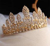 Moda DEISGNER Düğün Gelin Kristal Taç Yarışması Tiara Rhinestone Saç Aksesuarları Takı başlıkiçi Kadınlar Balo Headdress Süsleme Hediye