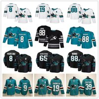 Mens Juventude Mulheres San Jose Sharks 65 Erik Karlsson Joe Pavelski Joe Thornton Brent Burns Logan Couture Evander Kane Casa Fora Hockey Jerseys
