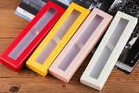 عالية الجودة ورقة قلم رصاص القضية مع نافذة واضحة مربع عرض مربعات هدية الزفاف مخصصة