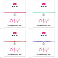 New Nursing is a Work of Heart bracelets with Gift card For ...