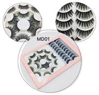 18 paires Mink faux cils trapus extensions de cils faits à la main longue 6 modèles réutilisables naturels DHL gratuites faux cils