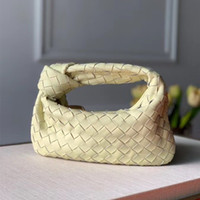 Hot Sales New Designer Wallets Soft Leather Woven Bag with Knotted Fashion Hand Bag for Women Mini Wallet Free Shipping