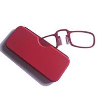 SALUD nariz carpeta portable de los vidrios de lectura con el caso de mini 4 colores gafas de presbicia emergencia de cristal CZ205