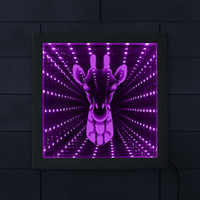 Giraffe Face 3D Optical Illusion Night Light Illuminated Mir...