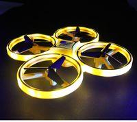 Интерактивные Индукционные Четырехосные Самолеты Smart Watch Жест Пульт Дистанционного Управления Самолетом Светодиодное Освещение Беспилотные Воздушные Игрушки