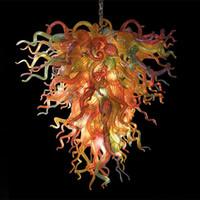 현대 샹들리에 크리스탈 조명기구 유럽 멀티 컬러 행잉 램프 크리스탈 유리 광택 조명 홈 인테리어 풍선