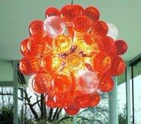 미니 램프 블로운 공 샹들리에 홈 장식 LED 조명 현대 디자인 따뜻한 아트 램프 무라노 유리 크리스탈 샹들리에