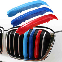 3pcs ABS Car Front Grill Sport Stripes Stickers Grille Trim ...