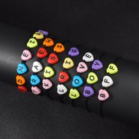12 Style Colorful Lucky Letters Braided Rope Bracelet Hip Ho...