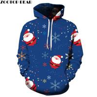 Felpe con cappuccio da uomo Felpe Brand Casual Fashion 3D Sport di Natale per uomo Snowflake Dropshopping