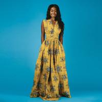 Kadınlar Geleneksel dashiki Uzun Elbise 2020 Moda Afrika Elbiseler Bazin Dantel Parti Casual Bohemya Maxi Afrika Clothes yazdır