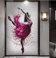HD imprimé danse élégante ballerine Résumé ballet fille mur d'affiche d'art grande toile Peinture multi choix Décoration