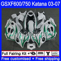 GSXF-600 для Suzuki Katana GSXF 750 600 GSXF600 03 04 05 06 07 293HM.40 GSX 750F GSXF750 2003 2004 2005 2006 2007 Объем зеленого пламени