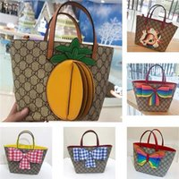 girls custom pineapple tote bag designer bags famous brand w...