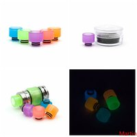 4 Styles Noctilucence Resin Drip Tip Wide Bore Mouthpiece Gl...