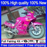 Bodys Kit für Kawasaki ZZR 250 1990 1995 1996 1997 1998 1999 251MY.54 ZZR250 90-99 ZZR250 90 95 96 97 98 99 Pink Rose Verkleidungs + 7Gifts