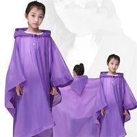 Großhandel Klar Emergeny Regenbekleidung Kunststoff Hoodies Reise Raincoat Einweg One Piece Poncho Regen-Bekleidung Kinder-Wasser-Beweis 4 2cj E19