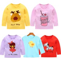 5Pcs Baby T- Shirts Baby Girls Spring Long Sleeve Cotton Mois...