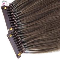 2019 Nouveaux produits cheveux couleur personnalisée disponible 6D Extensions de cheveux humains # 4 Mettre en évidence 25grams / sac peut être Styled avec fer pour les femmes