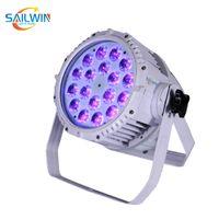Branco Caso 18x18W 6in1 RGBAW UV Waterproof LED Outdoor Par Luz DJ Par Projetor para o evento de casamento Clube
