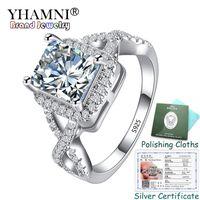 Прислали Серебряный Сертификат! Изысканные ювелирные изделия оригинальный 925 серебряное кольцо топ 8*6 мм 2.5 Ct CZ Циркон обручальные кольца подарок для женщин KPR065