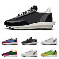 2019 LDV Waffle Erkek Koşu Ayakkabıları Kadınlar Siyah Beyaz Gri Çam Yeşil Gusto Varsity Mavi Erkekler Eğitmenler Moda Spor Sneakers