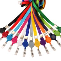 500Pcs Varietà di colori Holder retrattile cordino laccio Badge titolari di carta di credito di identificazione carta di nome Distintivo Attrezzature da ufficio, clip