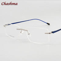 Чашма очки Оптические Предписание Titanium рамки для мужчин Rimless Light Eyeglass Петля качества очки кадр Мужчины