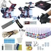 Kit de maquiagem Kit Tattoo completa 2 armas Immortal Cor Tintas Power Supply Tattoo Machines Agulhas Acessórios Kits Permanente