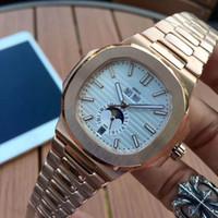 남성 자동 고품질 시계 실버 스트랩 블루 스테인레스 망 기계적 손목 시계 방수 슈퍼 빛나는 시계