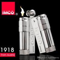 (Yeni Çakmak Yakıtsız) Vintage Orijinal IMCO 6700 Çakmak Paslanmaz Çelik Eski Benzin Çakmak, Erkekler Çakmak