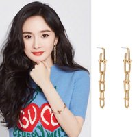 New Fashion 2020 Earrings For Women Gold Link Chain Long Dro...