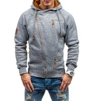 Mens Hoodies Sweatshirts Men's Color Matching Long Sleeved Sweater Thick Hooded Jacket Outdoor Casual Cardigan Jacket