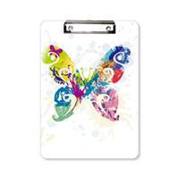 Çiçek Desenler Pano Klasör Yazı Defteri Taşıyıcı Plaka A4 ile Kelebek