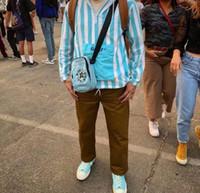 GOLFE WANG Tactical correia de couro Top designer de qualidade Floret Hip hop lona Rua homens e mulheres marca de moda saco de peito
