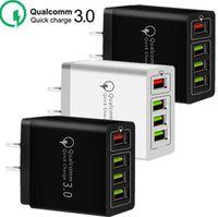 30W 4 USB-Ports QC3.0 Schnell Wall Charger QC 3.0 Schnelllade Wandaufladeeinheit Energien-Adpater für Samsung xiaomi