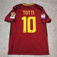 Retro Roma 2017 2018 Fussball Jerseys Totti de Rossi Dzeko Nainggolan 17/18 Retro Football Hemd S-2XL