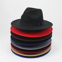 Fashion- القبعات النسائية Trilby رجال قبعات الجاز قبعات فيدورا الأعلى القبعات الواسعة الحافة الشعبي الرسمي الأزياء كاب
