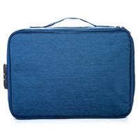 Grande Capacidade de arquivo Waterproof Document Bag Organizador Papers Bolsa de armazenamento de credenciais Bag Diploma de armazenamento de bolso com Separator